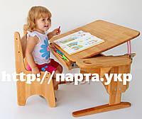Детская парта и стул бук 70*55, фото 1