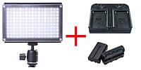 Накамерная лампа Lishuai LED-170AS + 2 аккумулятора + зарядное устройство (LED-170AS)