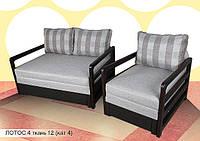 """Диван """"Лотос 4"""". 160 см + кресло 60 см. в ткани 4 категории"""