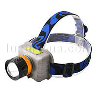 Фонарь на лоб Police 6903/8803-XPE, zoom, micro USB