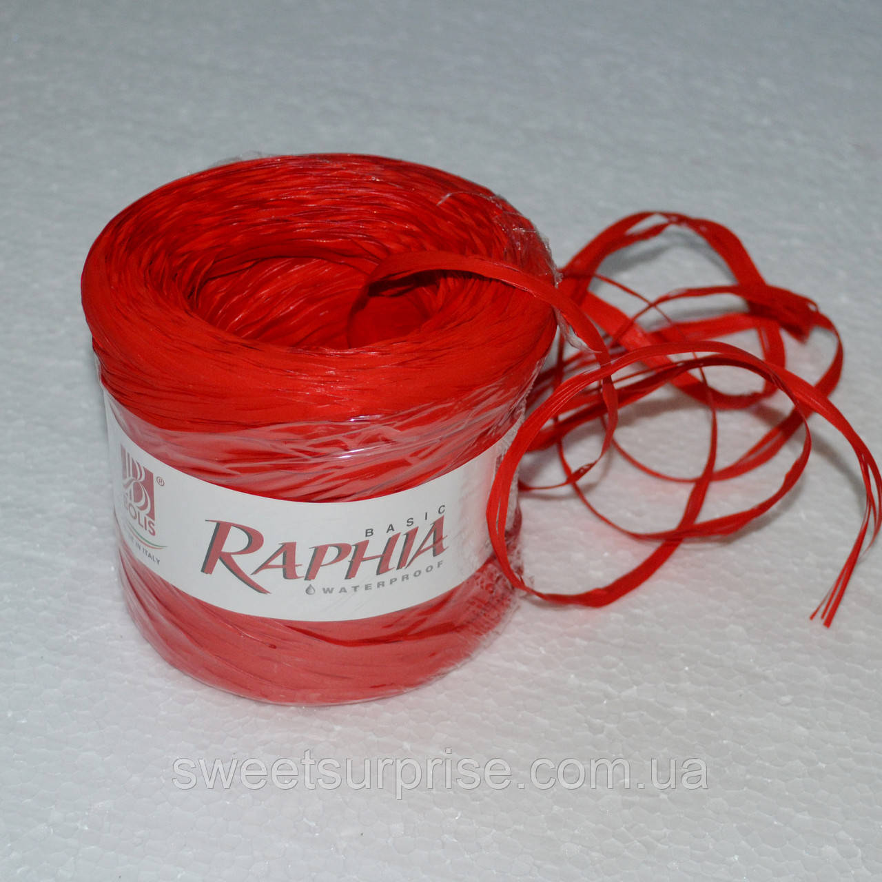 Рафия (красный)
