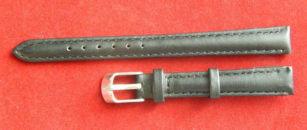 Ремешок кожаный NAGATA (ИСПАНИЯ) 12 мм, черный