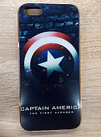 Силиконовый чехол для Apple iPhone 5/5s/5se, Captain America