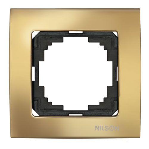 Nilson Touran Lux Одинарная Рамка Золото (ALT)