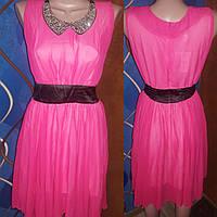 Шифоновое платье с нарядным воротничком, р.44-46