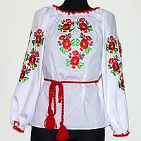 Стильная подростковая вышитая блузка
