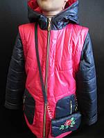 Детские куртки со съемными рукавами.