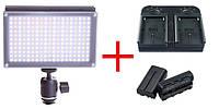Накамерная лампа Lishuai LED-209AS + 2 аккумулятора + зарядное устройство (LED-209AS)