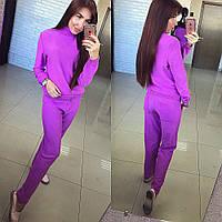 Женский очень класнный  вязанный костюм,кофта+ брюки, 2 цвета