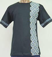 Мужская футболка вышиванка 639 Узор, интерлок, р.р. 44-62