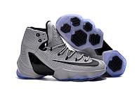 Мужские кроссовки Найк Lebron 13 Elite Grey/Black Реплика, фото 1