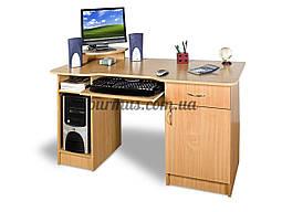 Большой стол компьютерный СКТ-1, 130*65, бук светлый