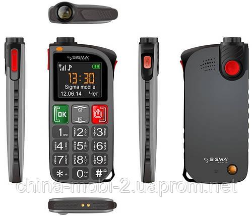 Телефон Sigma Comfort 50 Light Black (бабушкофон) ' ' , фото 2