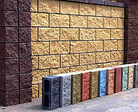 Блок декоративный колотый для забора