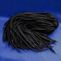 Шнурок 5мм черный 80см