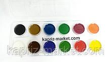 Фарби акварельні 12 цв. без пензликів