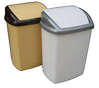 """Ведро для мусора пластиковое """"Домик"""" 27 литров с поворотной крышкой """"Горизонт"""""""