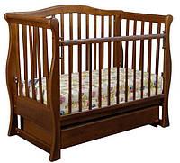 Кроватка детская Viva Premium (ящик + маятник) орех, Ласка-М