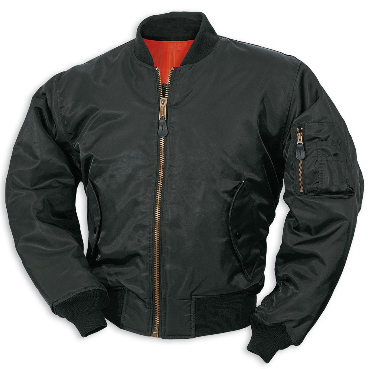 Куртка мужская летная МА1 США черная Mil-Tec