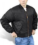 Куртка мужская летная МА1 США черная Mil-Tec, фото 2