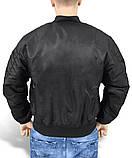 Куртка мужская летная МА1 США черная Mil-Tec, фото 3