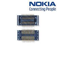 Коннектор дисплея для Nokia 6300/6303/6303i, оригинал