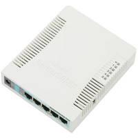 Маршрутизатор безпровідний Mikrotik RB951G-2HnD Atheros AR9344 (600 MHz), RAM 128MB, WiFi 802.11b/g/n, 5xGigabit LAN, 1xUSB, RouterOS L4