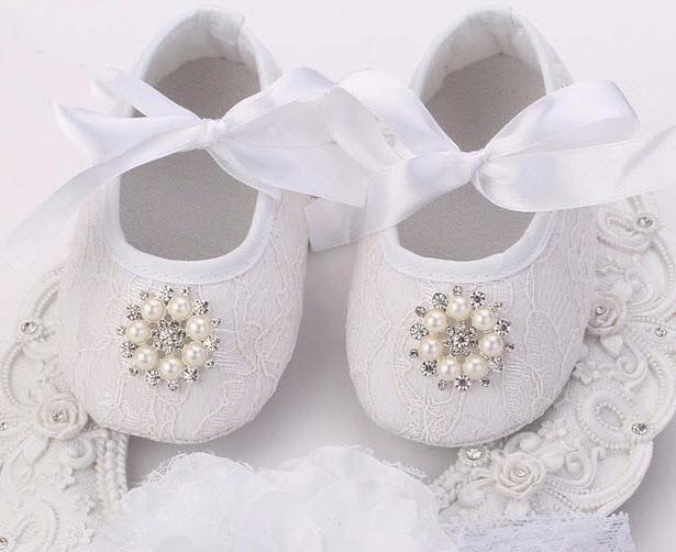 Пинетки туфли Белая диадема 11