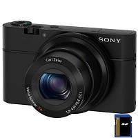 Фотоаппарат Sony Cyber-shot DSC-RX100 (DSCRX100.CEE2) официальная гарантия, З великим дисплеєм, Стильний дизайн, 20 Mpx, 13.2 х 8.8 мм Exmor CMOS, 28