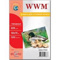 Бумага WWM 225 г/м2 10х15 см 500 л фото гл (G225.F500)