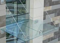 Козырек из стекла под заказ