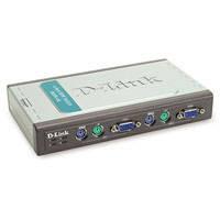 KVM Переключатель D-Link DKVM-4K 4port (2 кабеля) PS/2