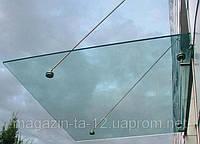 Козырек стеклянный на вантах