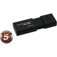 USB флеш накопитель Kingston 64Gb DataTraveler 100 Generation 3 USB3.0 (DT100G3/64Gb) 64Gb, USB3.0, пластик, черный
