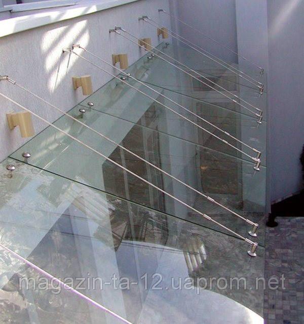Навесы стеклянные под заказ