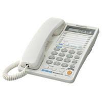 Телефон Panasonic KX-TS2368RUW офисный, импульсный, тоновый, 2, есть, белый, нет, есть