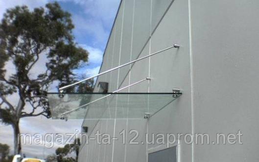 Стеклянный навес из стекла 10 мм