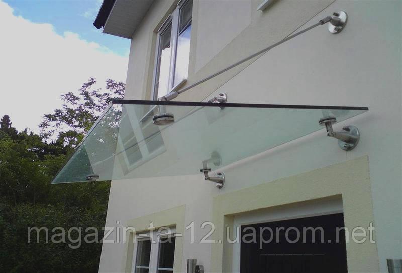 Стеклянный навес стекло 10мм