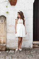 Платье бант, белое