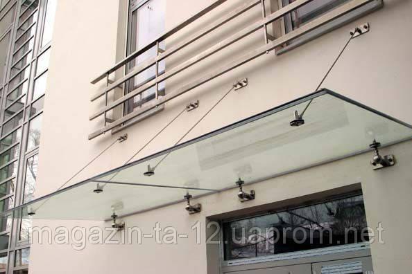 Стеклянный навес стекло триплекс 6+6