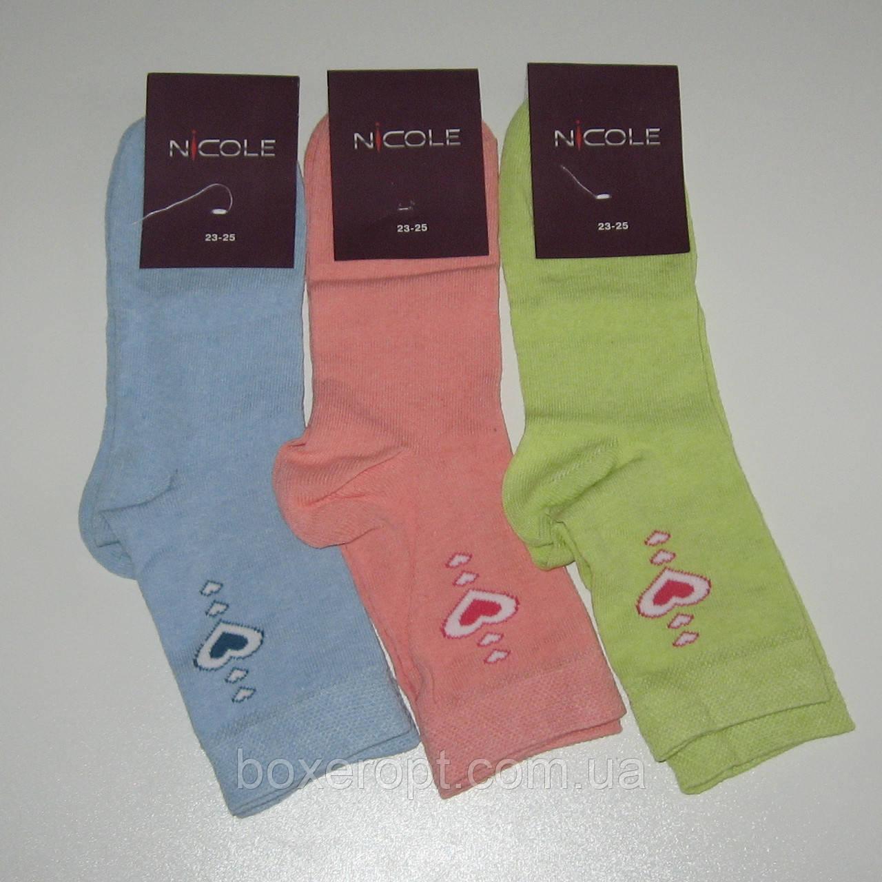 Женские носки Nicole - 7.50 грн./пара (сердца)