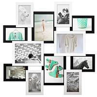 Мультирамка «Путешествие» черно-белая (12 фото) ДЕРЕВО