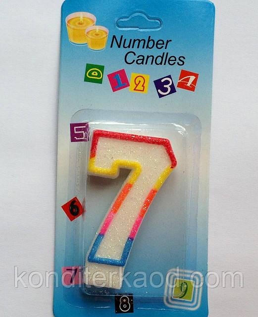 Свеча для торта Цифра 7