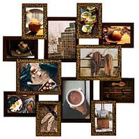 Мультирамка «Путешествие» шоколад (12 фото) ДЕРЕВО
