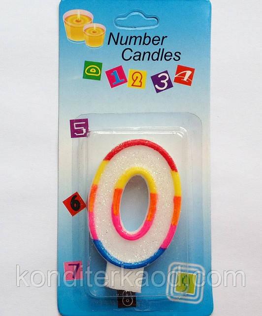 Свеча для торта Цифра 0