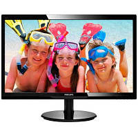 Монитор 23.6' Philips 246V5LHAB/01 TN, 16 нa 9 LED 5 мс, 10 000 000 нa 1, 250 кд/м2, 170/160, D-sub/HDMI/PC Audio In/Headphone Out, вбудовані динаміки