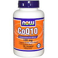 Коэнзим Q10, CoQ10, Now Foods, 100 мг, 180 капсул