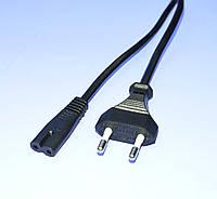 Шнур питания 220V для аппаратуры 2x0,75мм.кв., медь CE 1.8м  KRO2771