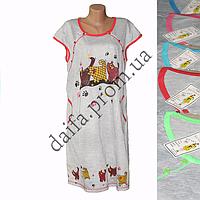 Женская котоновая ночная рубашка БАТАЛ LD10 оптом со склада на 7км.