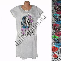 Женская котоновая ночная рубашка БАТАЛ LD13 оптом со склада на 7км.